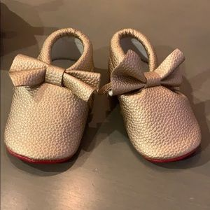 Other - Gold moccasins with red soles